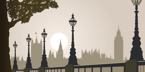 Big Ben - Londres - Palais de Westminster - Tourisme - brouillard