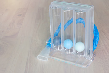 Three balls Incentive Spirometer for deep patient breathing