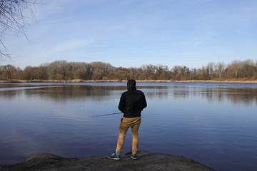 Angler, See, Waldsee
