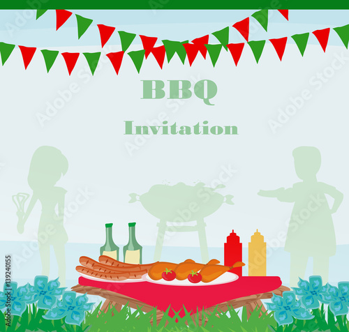 barbecue party invitation stock photo and royalty free images on