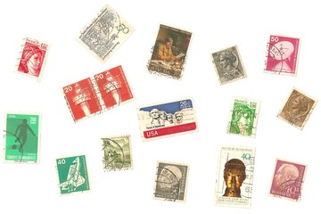Vintage Worldwide STAMPS Posted