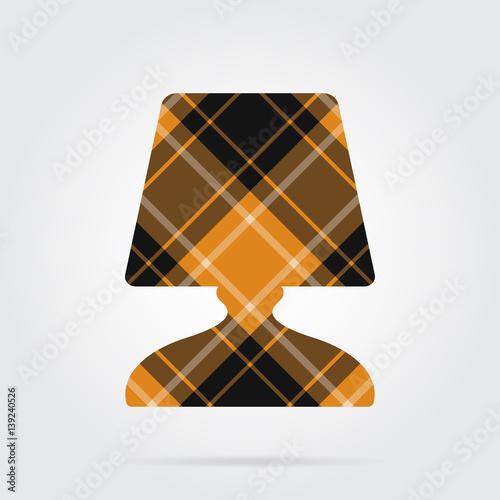 Orange Black Tartan Icon
