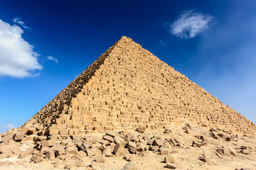 Pyramid of Menkaure in Giza, Egypt