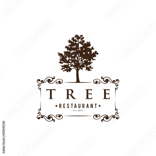 Tree Vintage Logo Stock Image And Royalty Free Vector Files On