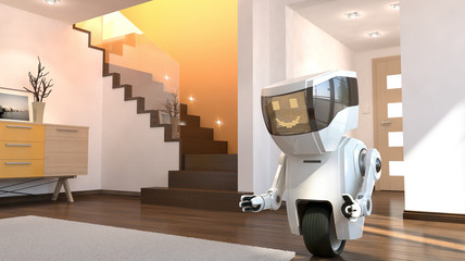 Robot in the living room