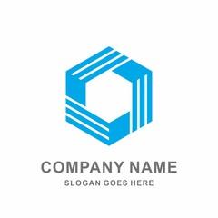 3D Geometric Triangle Hexagon Cube Box Architecture Interior Construction Business Company Stock Vector Logo Design Template