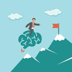 Smart Solution. Concept business illustration