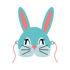 Rabbit Animal Carnival. Grey Small Bunny Hare.