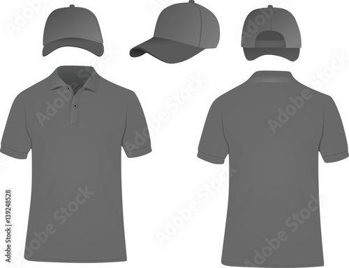 e8591f56e Baseball cap and polo t shirt vector