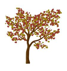 Autumn tree isolated vector symbol icon design.