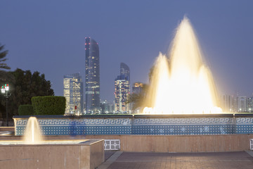 Fototapete - Fountain in Abu Dhabi, UAE