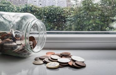Rainy day fund, not enough money