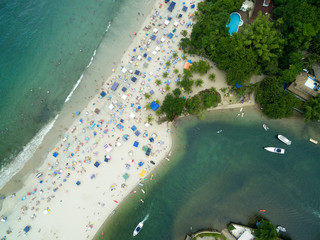 Top View of Barra do Una Beach, Sao Paulo, Brazil