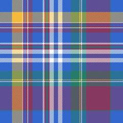Blue plaid tartan seamless pattern