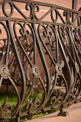 Attractive fence made of metal