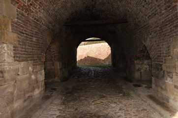 Tunnel in old Medieval Castle