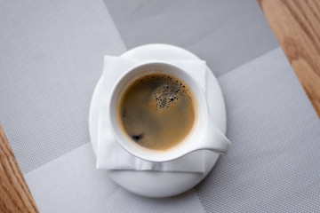 top view Cup of coffee