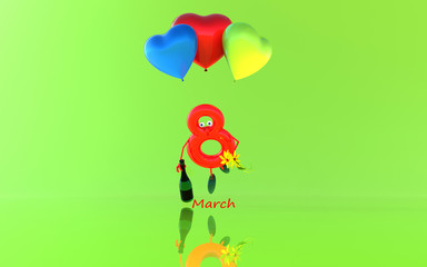 Women's day! 3D illustration