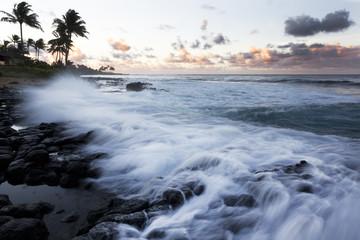 Dawn, Surf, Kauai, Hawaii