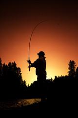 Fisherman's Silhouette   Southern Oregon