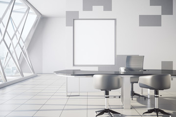 Conference room with square frame
