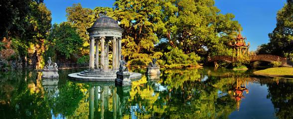Park with historical gardens Villa Durazzo-Pallavicini Wall mural