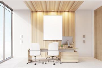 Elegant CEO room interior, poster