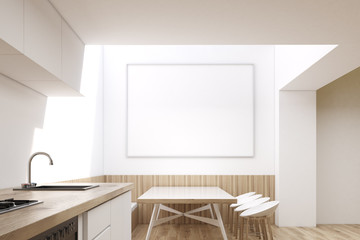 Dining room interior with horizontal poster