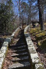 Stone stairs in Wall Doxey State Park, Mississippi