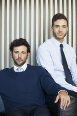 Business associates, portrait