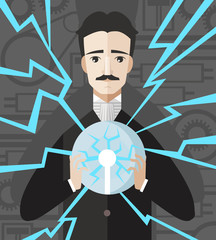 great inventor scientist discovering electricity ac current