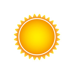 color beautiful sun abstract icon, vector illustracton design