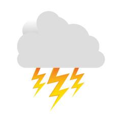 white cloud ray icon, vector illustraction design image