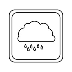 symbol cloud rainning icon, vector illustraction design image