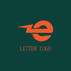 thunderbolt letter E logo