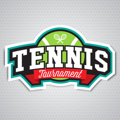 Tennis  logo, badge, design template