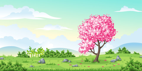 Wall Mural - Spring nature background