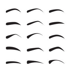 Set Of Female Eyebrows In Different Shapes And Types, Pattern, Beauty, Facial, Fashion, Form