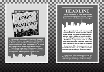 Design a flyer, booklet in the urban style