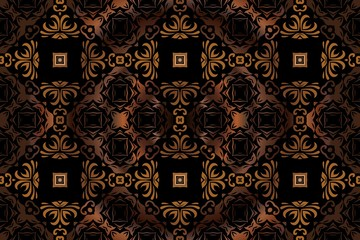 abstract symmetrical pattern retro vintage element medieval decoration on a dark background