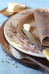 Cuisine French regions: breton buckwheat crepes