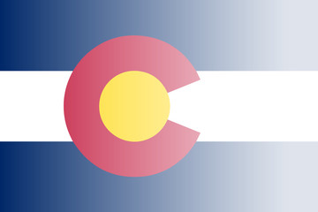 Colorado State Flag Fade Background