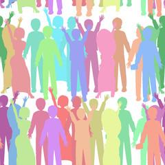 Seamless people pattern. illustration