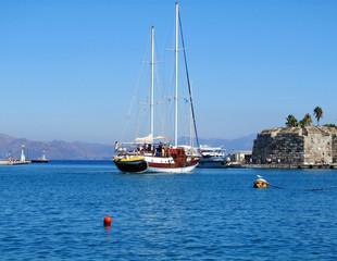 Sailboat at Main Port, Kos, Greece