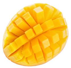 mango slices isolated on a white background