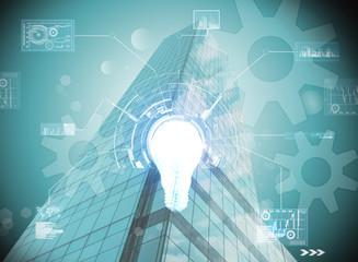 World of futuristic business