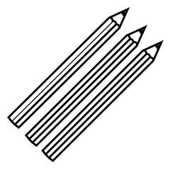 figure colors pencils icon stock, vector illustraction design image