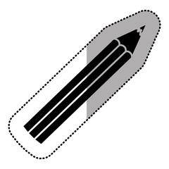 dark silhouette color pencil icon stock, vector illustraction design image