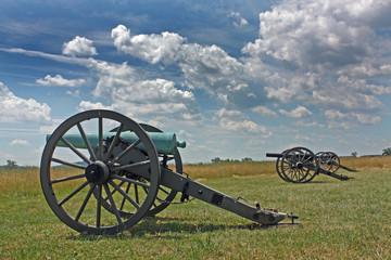 Fototapete - Cannon on Gettysburg Battlefield , Pennsylvania