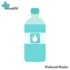 Bottle of natural water.